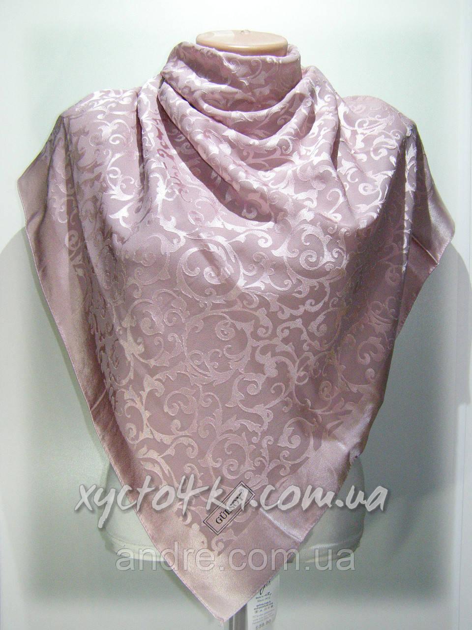 Шелковый платок Афродита бледно розовый