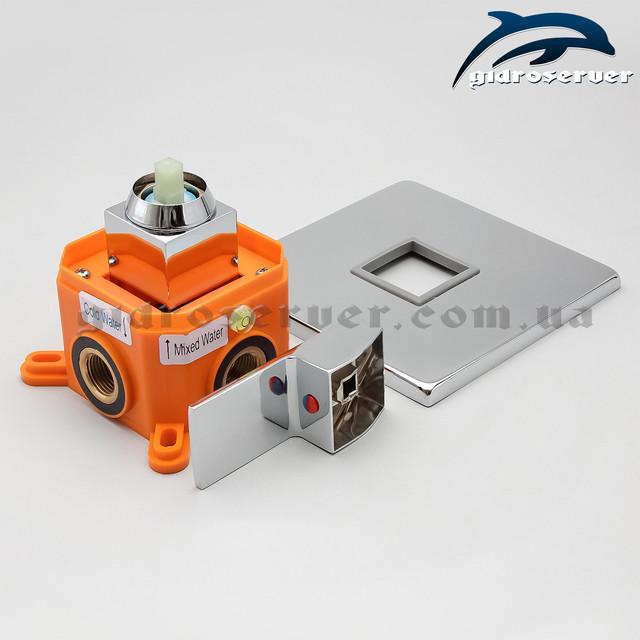 Встраиваемый смеситель для душа и душевой системы KVB-01.2 с термопластовым монтажным боксом.