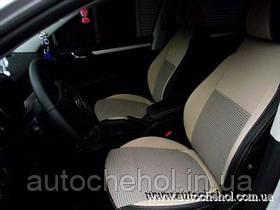 Авточехлы на Skoda Superb II, бежевого цвета