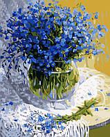 Картина-раскраска Menglei Незабудки КН1069 (MG1069) 40 х 50 см, фото 1