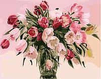 Картина по номерам Menglei Тюльпаны в вазе  (MG1072) 40 х 50 см