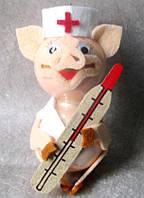 Формовая игрушка Свинка Доктор