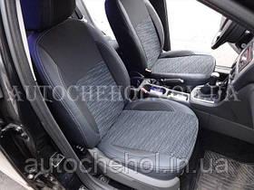 Авточехлы на сиденья Ford Focus 2, серая нить, Premium Style.