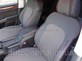 Авточехлы на сиденья Skoda Superb II 2013 красная нить elegance комплектация,Premium Style, MW BROTHERS