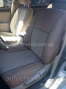 Авточехлы на сиденья Toyota Corolla 2007, экокожа и ткань