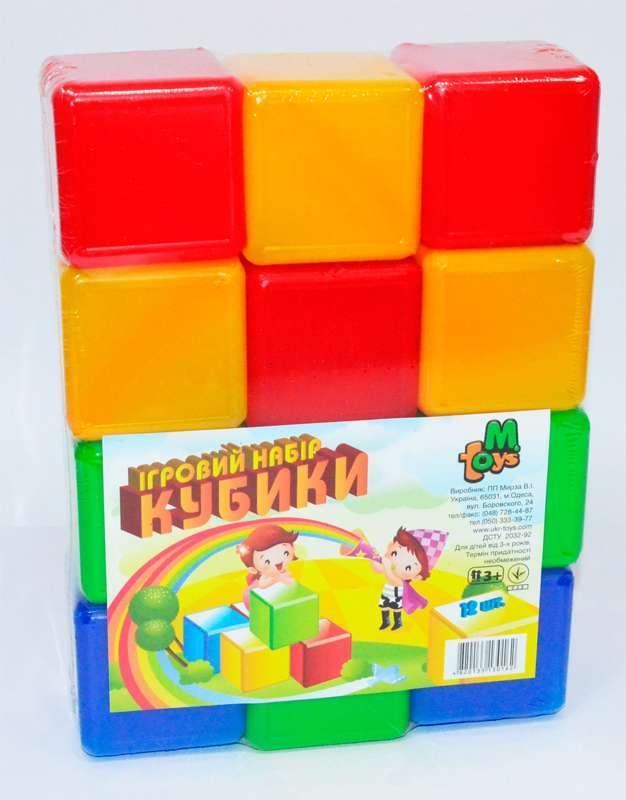 """Кубики цветные 12 шт. (24) 05062 """"M-TOYS"""""""