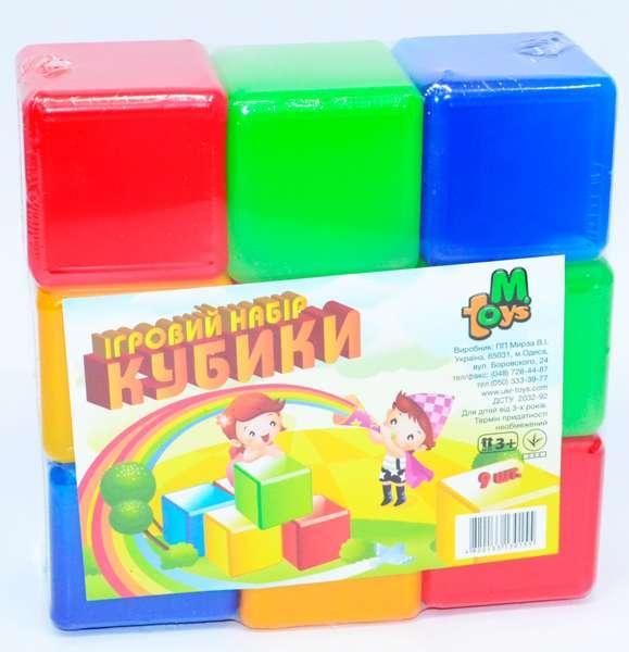 """Кубики цветные 9 шт. 05061 (21) """"M-TOYS"""""""