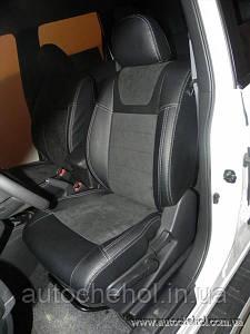 Авточехлы с алькантарой на NISSAN X TRAIL SE с задним подклокотником, Leather StyLe MW BROTHERS