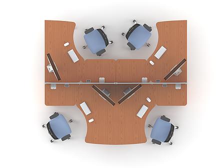 Комплект мебели для персонала серии Техно плюс композиция №6 ТМ MConcept, фото 2