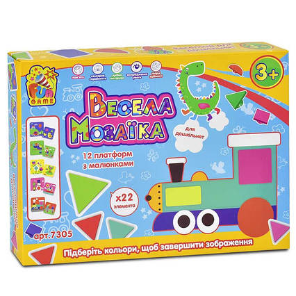 "Мозайка 7305 ""Весела Мозаїка"" (12) ""FUN GAME"" в коробке"
