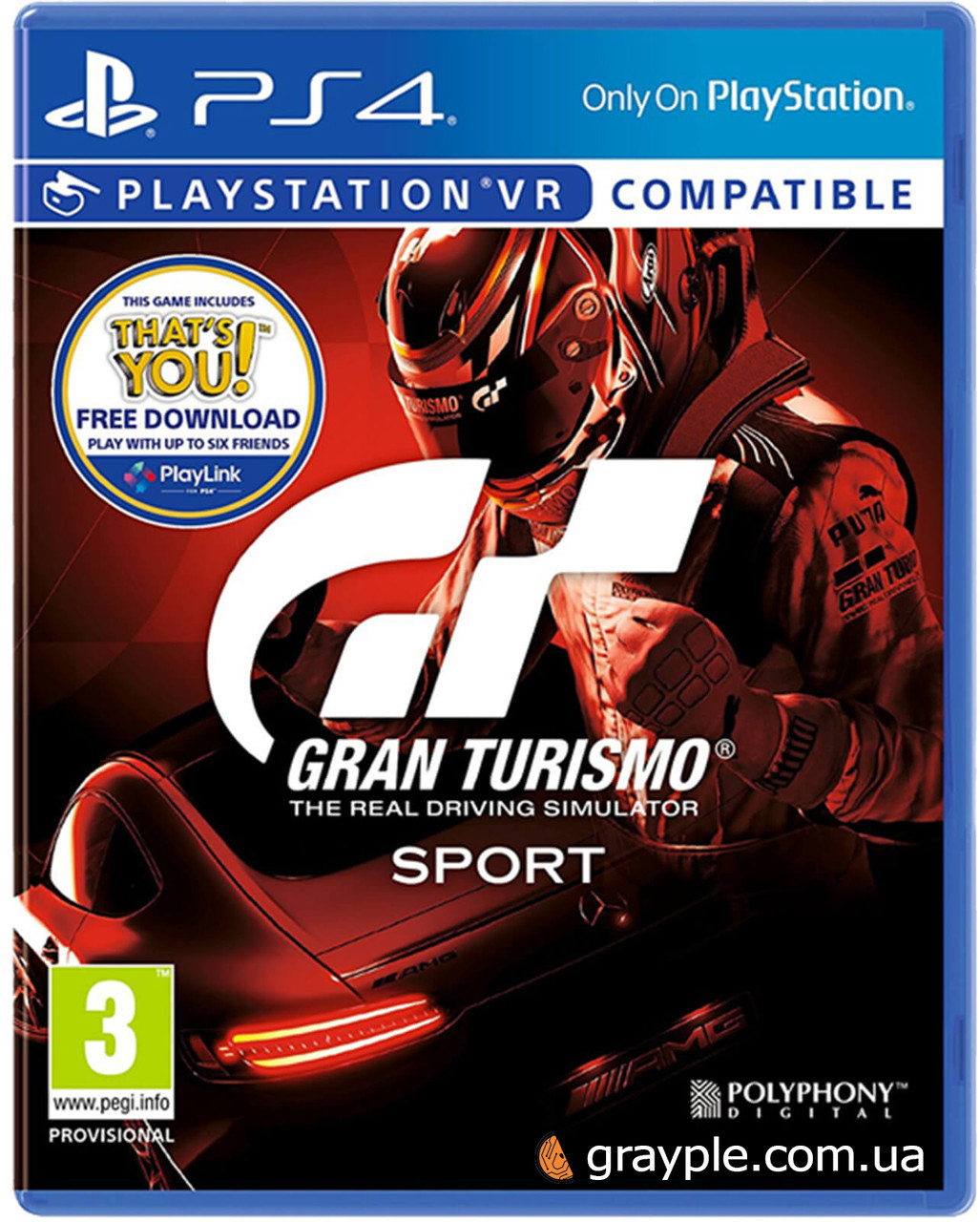 Диск PS4 Gran Turismo (PS4, Russian version)
