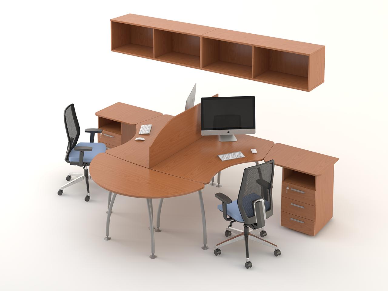 Комплект мебели для персонала серии Техно плюс композиция №7 ТМ MConcept