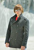Пальто мужское №М-800 серый