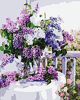 Картина-раскраска Menglei Сирень в стеклянной вазе КН1074 (MG1074) 40 х 50 см очень красивый набор