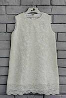 Гипюровое детское платье код: 7004, молочного цвета, размеры: от 80 до 140