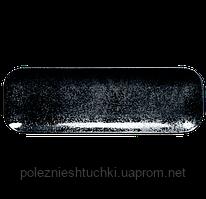 Блюдо прямоугольное фарфоровое 33х27 см, черное Karbon, RAK