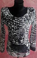 Водолазка - кофта серая из сеточки с длинными рукавами