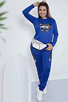 Хороший спортивный костюм женский 35458 (50–60р) в расцветках