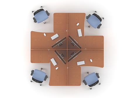 Комплект мебели для персонала серии Техно плюс композиция №9 ТМ MConcept, фото 2
