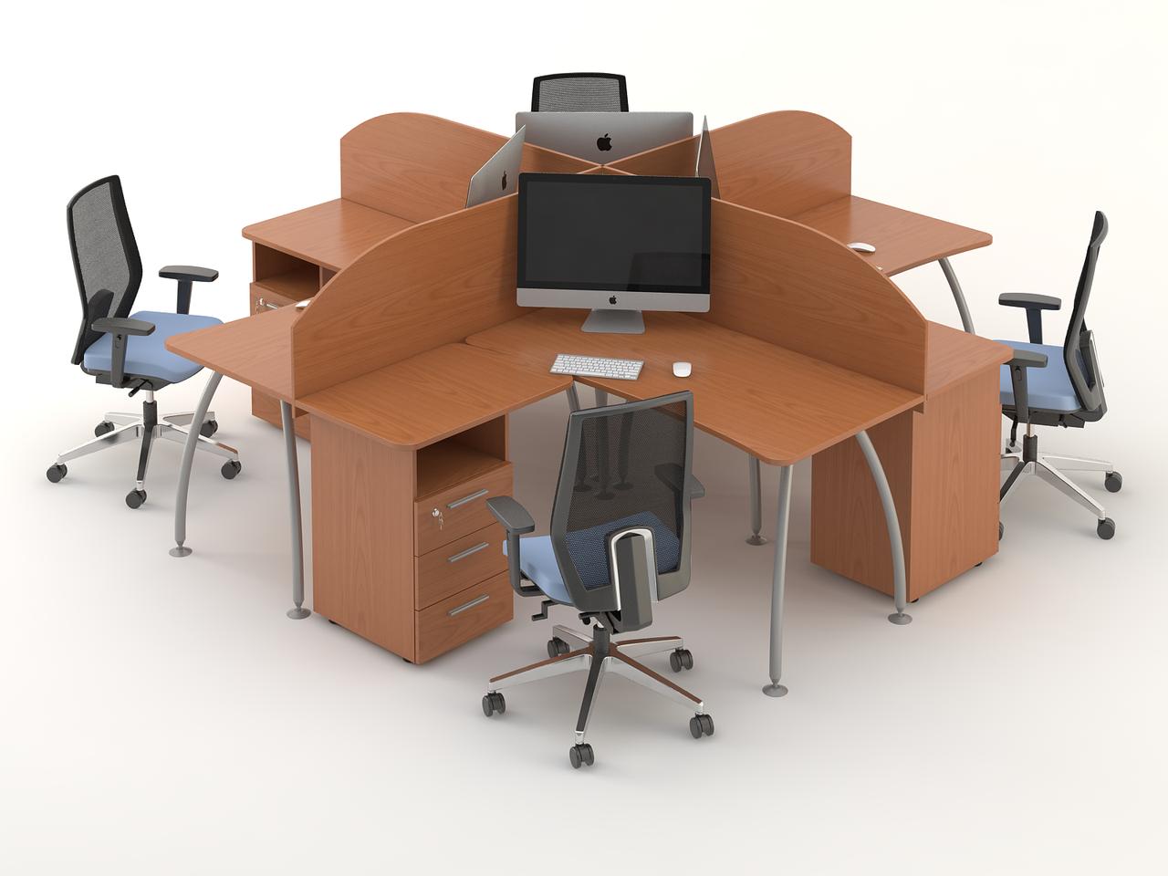 Комплект мебели для персонала серии Техно плюс композиция №9 ТМ MConcept