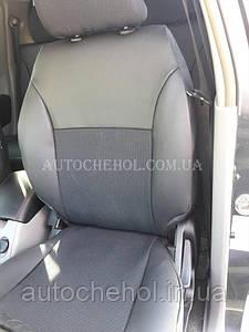 Авточехлы экокожа с тканью на Mitshubishi L200, производитель АвтоМир