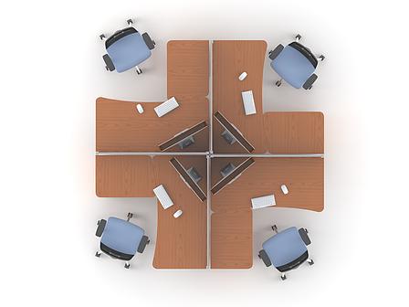 Комплект мебели для персонала серии Техно плюс композиция №10 ТМ MConcept, фото 2