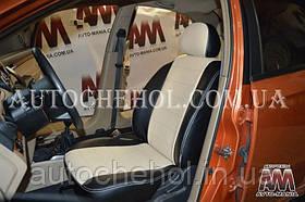 Бежевые чехлы на сиденья Chevrolet aveo хетчбек, авточехлы на авео, AM-S, automania