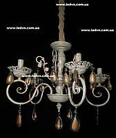Классическая подвесная люстра в бежевых тонах на 5 ламп, фото 1