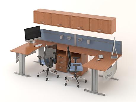 Комплект мебели для персонала серии Техно плюс композиция №12 ТМ MConcept, фото 2