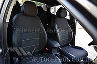 Качественные автомобильные чехлы на сиденья Ford Fiesta Mk6 2002 - 2008,серая нить, Premium style