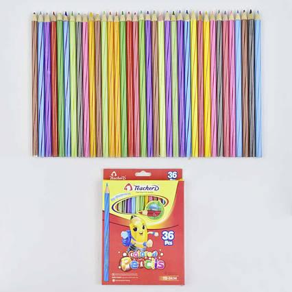 Карандаши цветные 0692 (180) 36шт в упаковке, 36 цветов