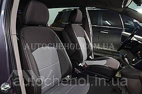 Качественные автомобильные чехлы на сиденья Mitsubishi Grandis, серая нить, Premium style