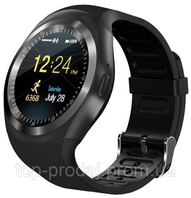 Наручные часы Smart Y1, Смарт часы-телефон, Умные часы, Наручный телефон, Смарт часы с блютузом, Часофон