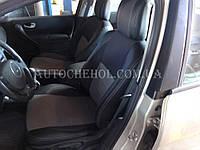 Качественные автомобильные чехлы на сиденья Renault Megane 2, серая нить, Premium style
