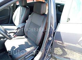 Качественные автомобильные чехлы на сиденья Renault Megane 3, красная нить, Premium style