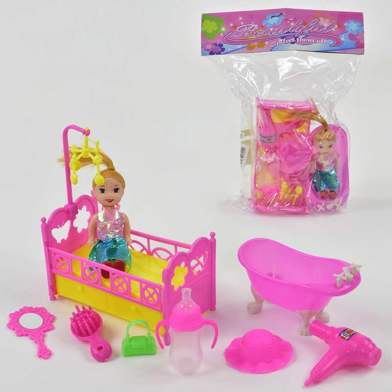 Кукла 600-93 (200) с аксессуарами, в кульке