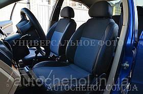 Качественные автомобильные чехлы на сиденья Renault Sandero, синяя нить, Premium style