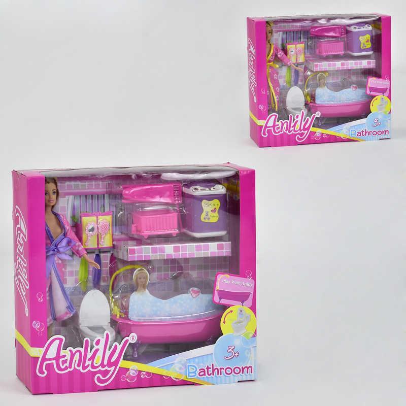 Кукла 99073 (24) Ванная комната, 2 вида, с аксессуарами, в коробке