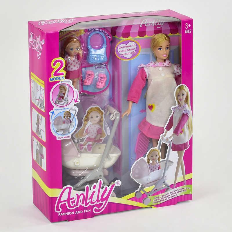 Кукла 99116 (24/2) с дочкой, с коляской, в коробке