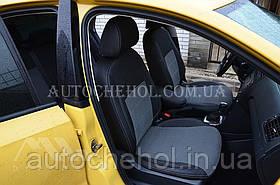 Качественные автомобильные чехлы на сиденья Seat Ibiza,серая нить, Premium style