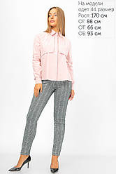 Блуза А-образного силуэта с пелериной 42-48