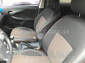 Качественные автомобильные чехлы на сиденья Toyota Corolla 2007, красная нить, Premium style