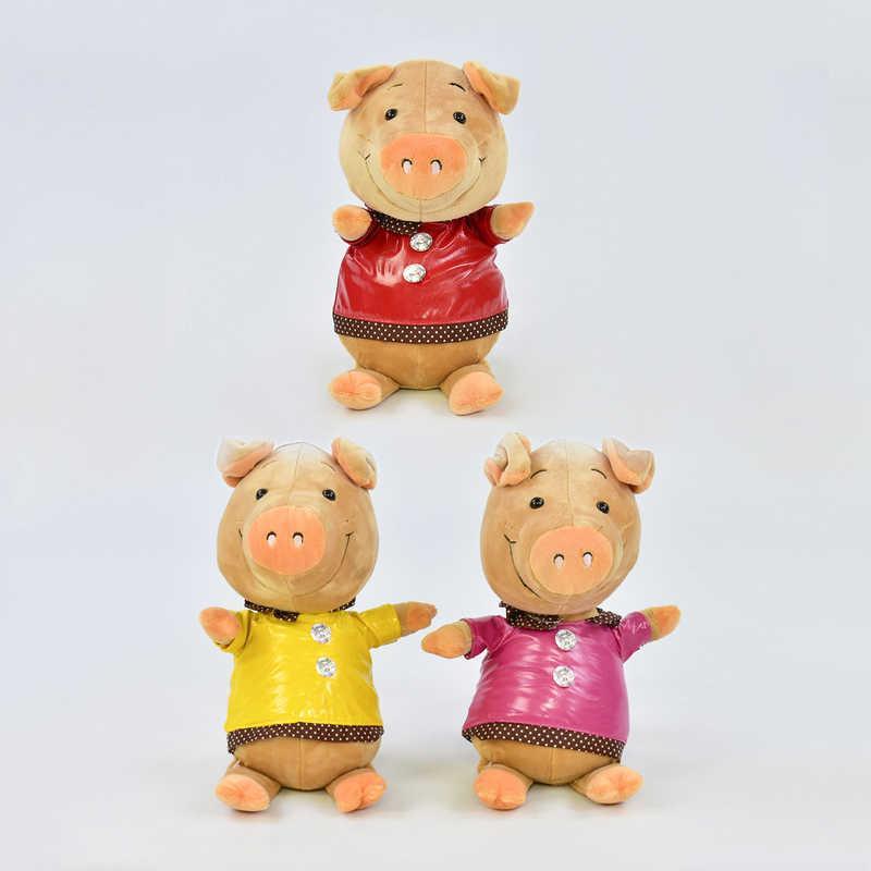 Мягкая игрушка Свинка C 31220 (72) высота 24см, 3 цвета