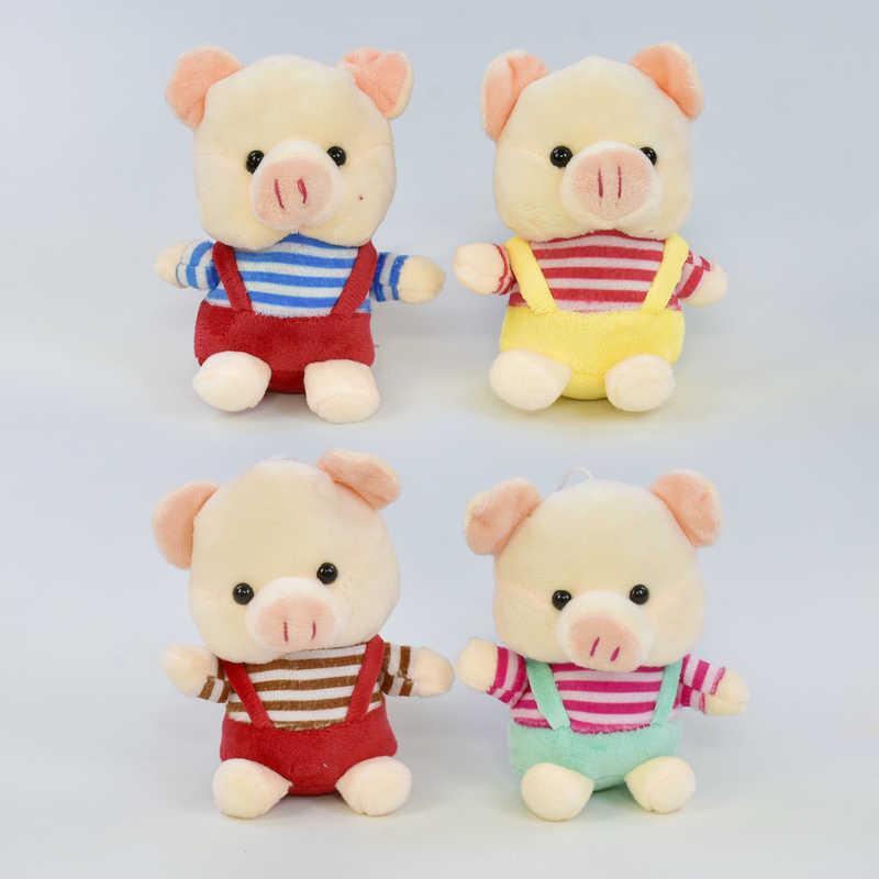 Мягкая игрушка Свинка С 31217 (840) высота 12см, 4 цвета