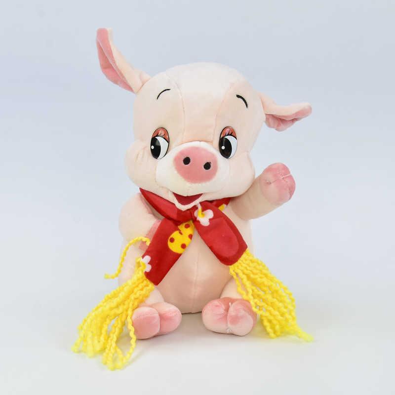 Мягкая игрушка Свинка С 31218 (120) 1 цвет, высота 18см