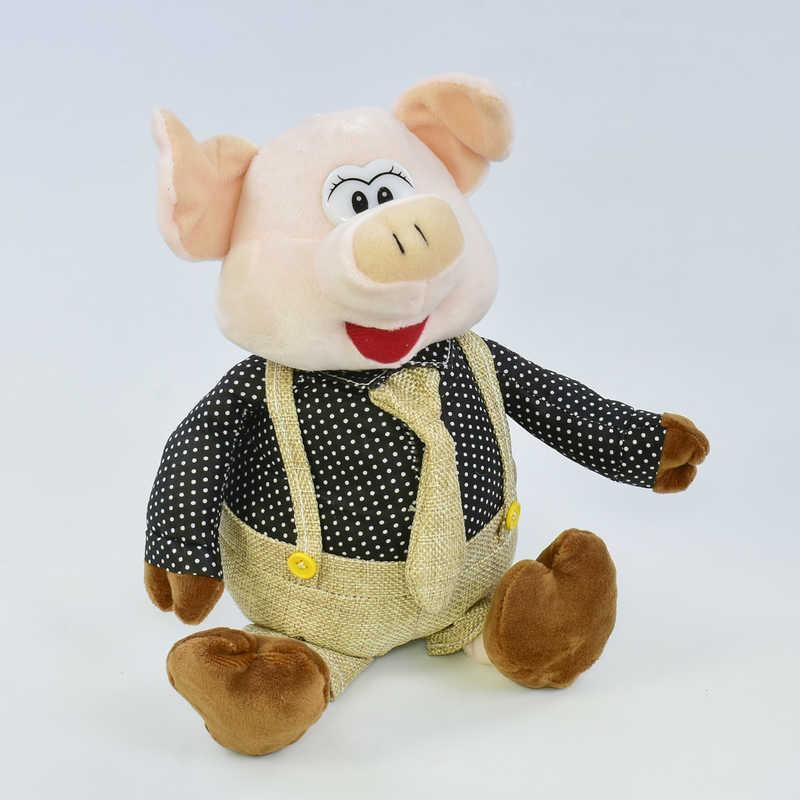 Мягкая игрушка Свинка С 31856 (60) высота 22см, 1 вид