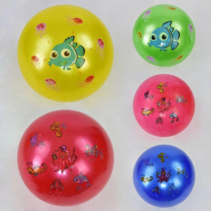 Мяч резиновый F 21972 (200) перламутровый, 70 грамм, 5 видов