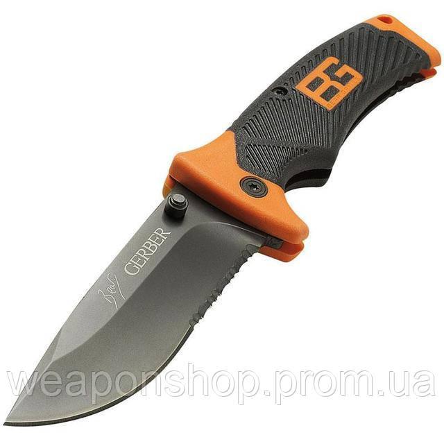 Стальной походный нож Gerber BG (копия), складной ножик с доставкой по Киеву и Украине