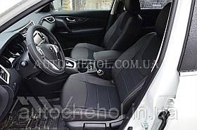 Качественные авточехлы модель динамик на Nissan Xtrail T32 2014. MW Brothers