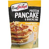 Протеиновая смесь для выпечки и блинчиков со вкусом «Банан и лесные орехи» Pancake mix (340 г) FlapJacked